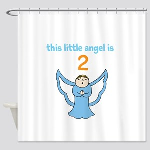 little angel custom age Shower Curtain