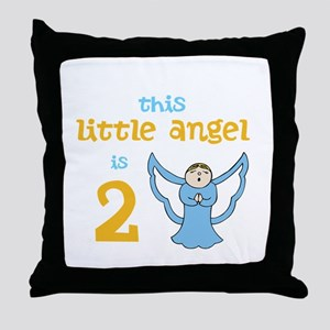 little angel custom age Throw Pillow