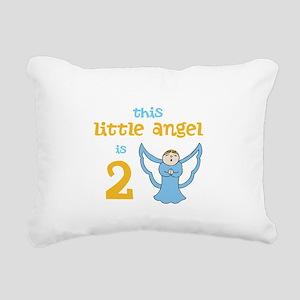 little angel custom age Rectangular Canvas Pillow