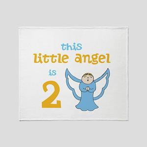 little angel custom age Throw Blanket