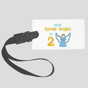 little angel custom age Large Luggage Tag