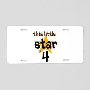 little star custom age Aluminum License Plate