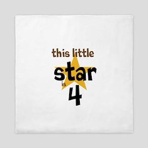 little star custom age Queen Duvet