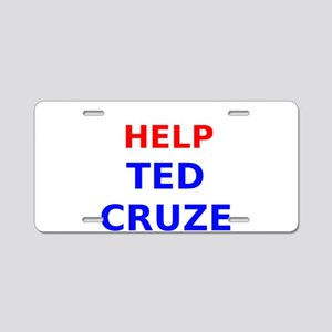 Help Ted Cruze Aluminum License Plate