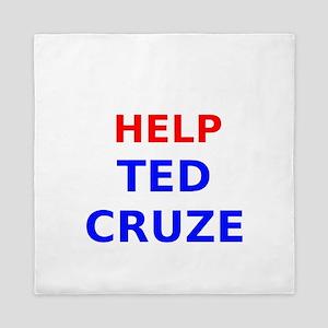 Help Ted Cruze Queen Duvet