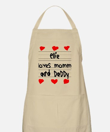 Ellie Loves Mommy and Daddy Apron