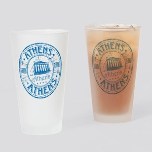 Athens Stamp Drinking Glass