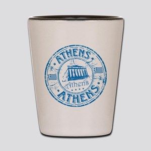 Athens Stamp Shot Glass
