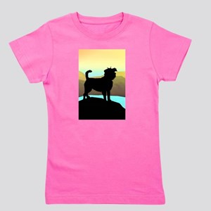 3-affen by the sea tall Girl's Tee