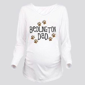 bedlington dad Long Sleeve Maternity T-Shirt