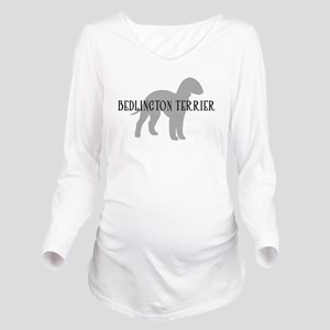 bedlington terrier dog greytxt Long Sleeve Mat