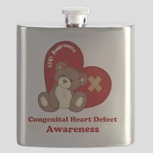 Congenital Heart Defect Awareness Flask