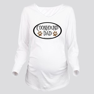 coonhound dad oval Long Sleeve Maternity T-Shi
