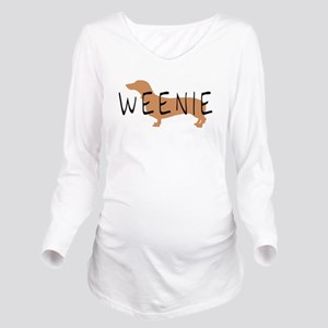 brown black weenie fun text Long Sleeve Matern