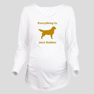 just golden dkr Long Sleeve Maternity T-Shirt