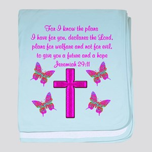 JEREMIAH 29:11 baby blanket