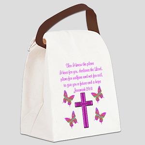 JEREMIAH 29:11 Canvas Lunch Bag