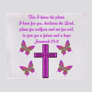JEREMIAH 29:11 Throw Blanket