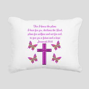 JEREMIAH 29:11 Rectangular Canvas Pillow