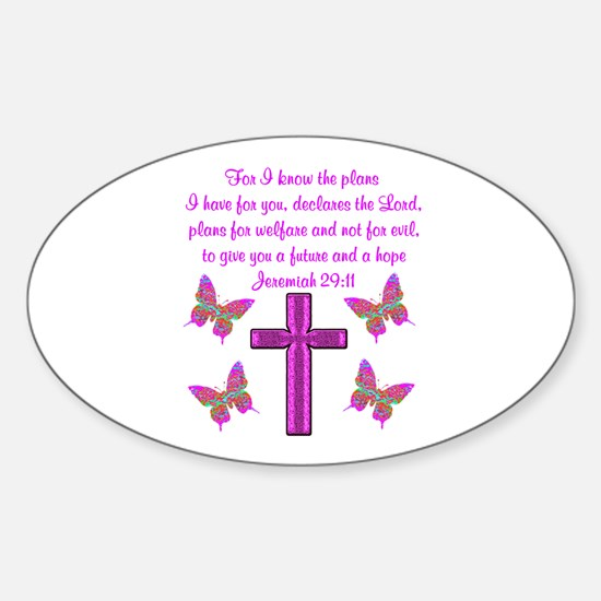 JEREMIAH 29:11 Sticker (Oval)
