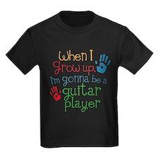 Future Guitar Player Kids Dark T-Shirt