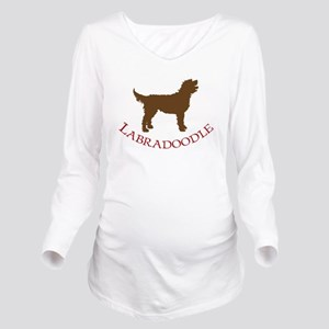 labradoodles brown red Long Sleeve Maternity T