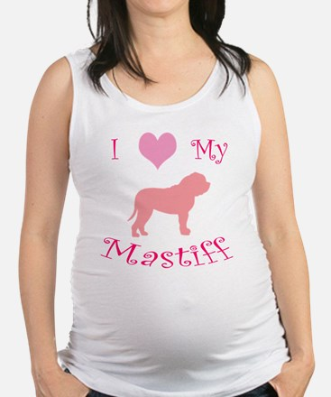 i heart my mastiff pink.png Maternity Tank Top