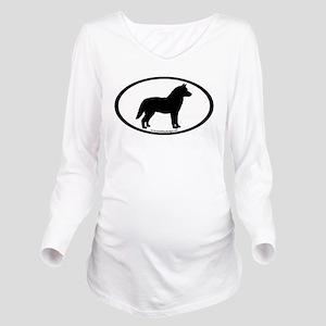 4-3-husky oval Long Sleeve Maternity T-Shirt
