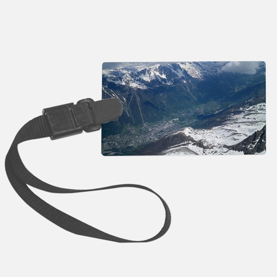 Chamonix Valley View Luggage Tag