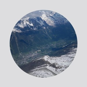 Chamonix Valley View Round Ornament