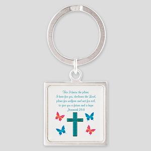 JEREMIAH 29:11 Square Keychain