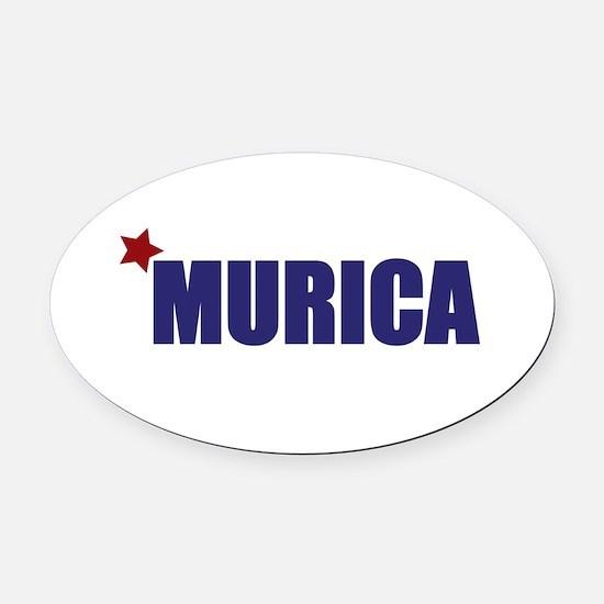 'Murica America Oval Car Magnet