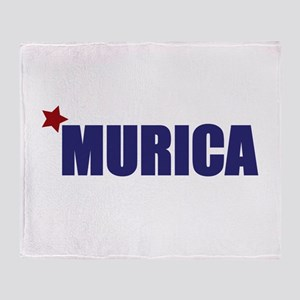 'Murica America Throw Blanket