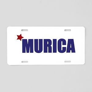 'Murica America Aluminum License Plate