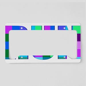 Run Squares License Plate Holder
