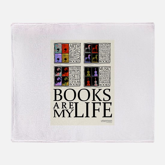 Books are my Life Throw Blanket