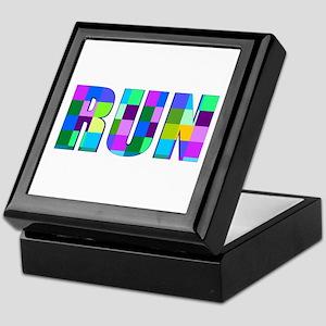 Run Squares Keepsake Box