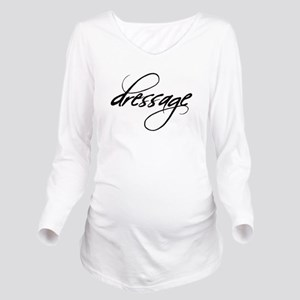 dressage fix horse black  Long Sleeve Maternit