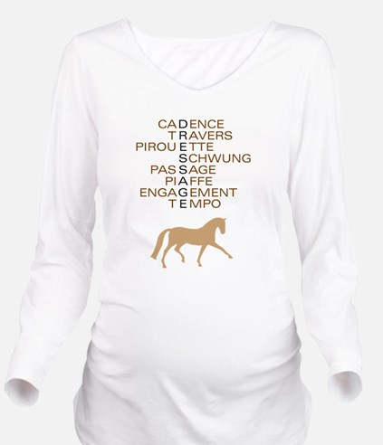 dressage language trot.png Long Sleeve Maternity T