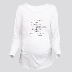 dressage language Long Sleeve Maternity T-Shirt