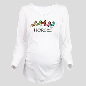 many leaping horses Long Sleeve Maternity T-Shirt