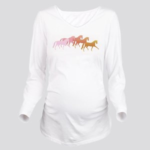 many horses Long Sleeve Maternity T-Shirt