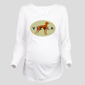 vizsla dog Long Sleeve Maternity T-Shirt