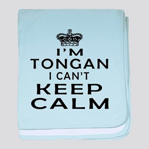I Am Tongan I Can Not Keep Calm baby blanket