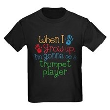 Future Trumpet Player Kids Dark T-Shirt