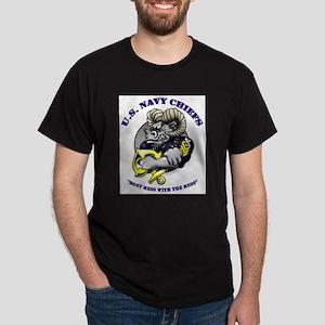 Navy CPO Ram Logo Ash Grey T-Shirt