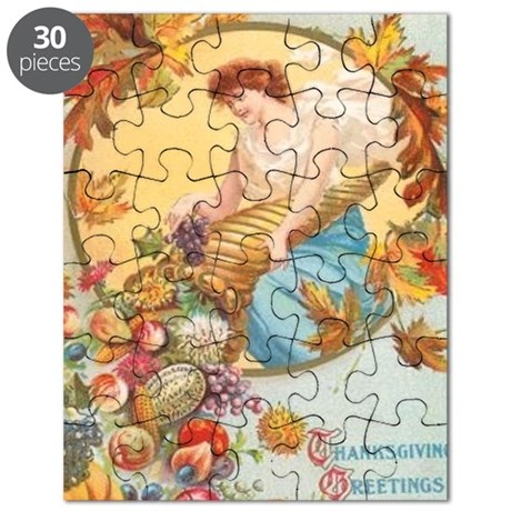 Vintage Thanksgiving Card Puzzle