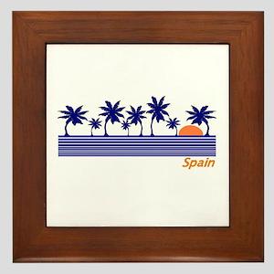 Spain Blue Palms Framed Tile