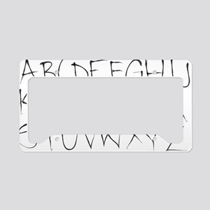 inky alphabet License Plate Holder