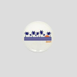 Spain Blue Palms Mini Button
